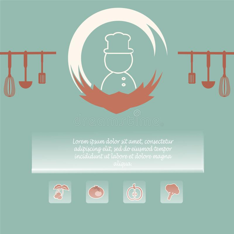 Menu page design. cooking book page concept. Vector illustration royalty free illustration