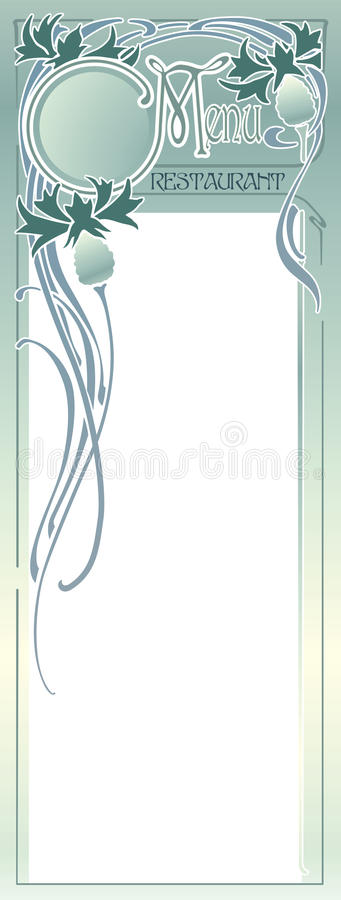 Download Menu Panel stock vector. Image of listing, lunch, panel - 12359372