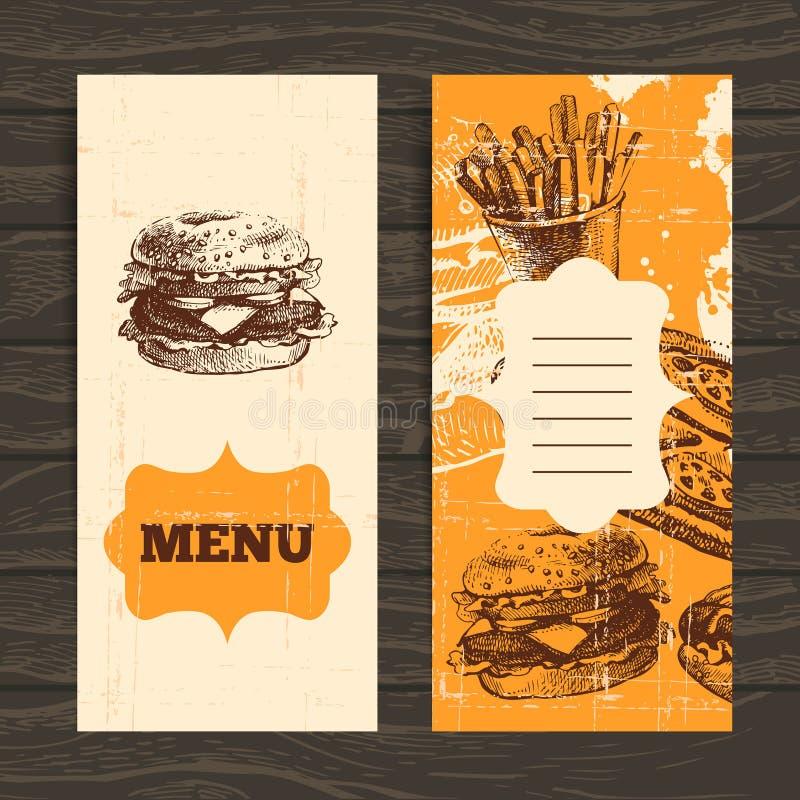 Menu para o restaurante, café, barra, coffeehouse ilustração do vetor