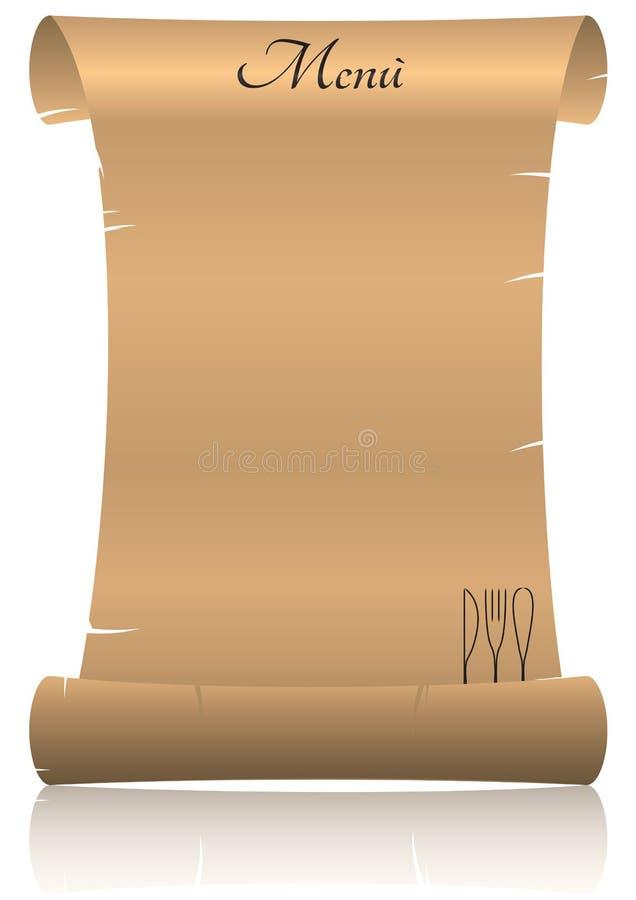 Menu Parchment Stock Images