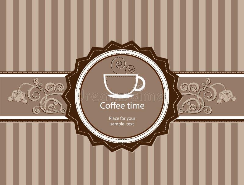 Menu per il ristorante, caffè, barra, coffeehouse illustrazione di stock