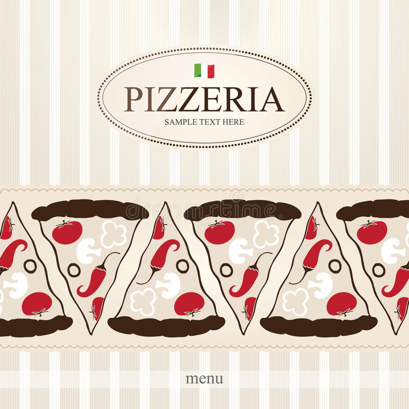 Menu per la pizzeria illustrazione di stock