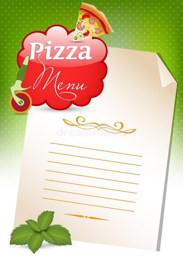 menu pizza ilustracji