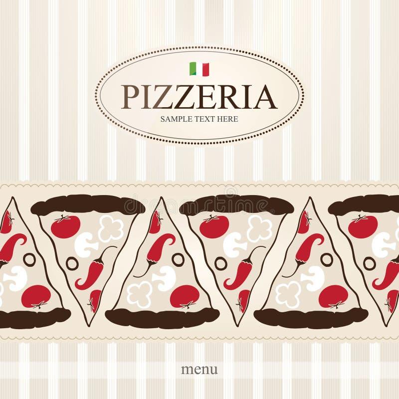 menu pizzeria ilustracji
