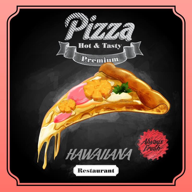 Download Menu pizzy hawaiiana ilustracji. Ilustracja złożonej z pojęcie - 53786153