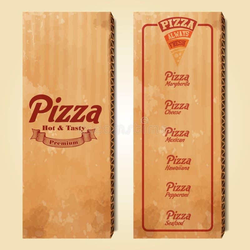 Download Menu pizzy karton ilustracja wektor. Ilustracja złożonej z blackboard - 53786142