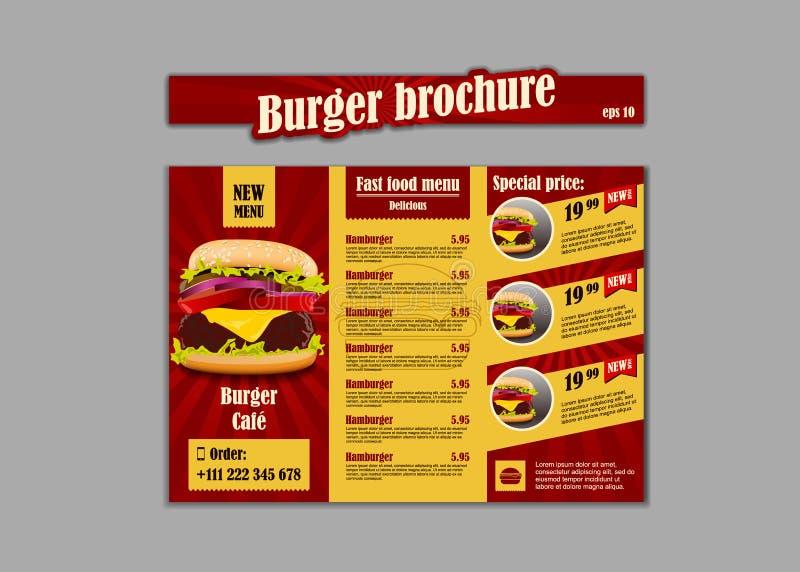 Menu placemat food restaurant brochure, menu template design. Vintage creative dinner template with hand-drawn graphic. Vector food menu flyer stock illustration