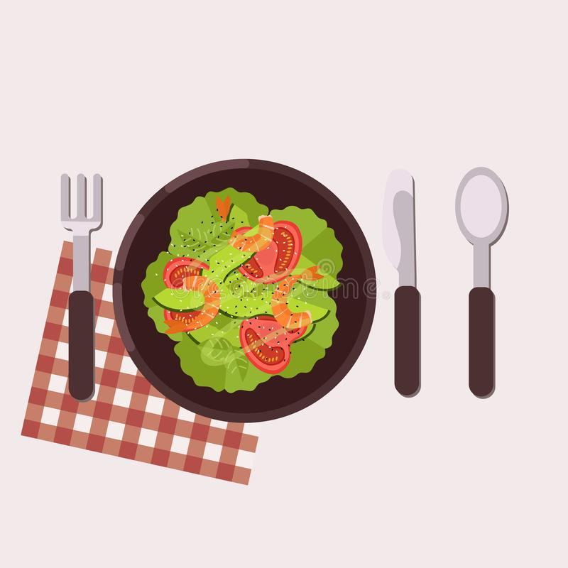 Menu pojęcie zdrowa żywność Mieszkanie stylowa ilustracja również zwrócić corel ilustracji wektora royalty ilustracja