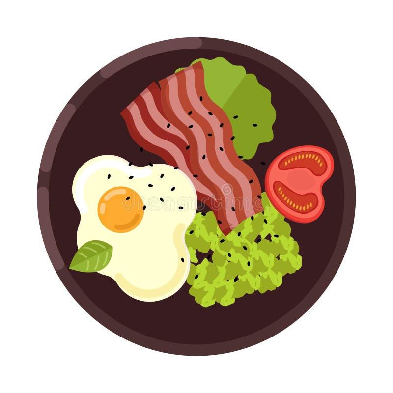 Menu pojęcie zdrowa żywność Mieszkanie stylowa ilustracja również zwrócić corel ilustracji wektora ilustracja wektor
