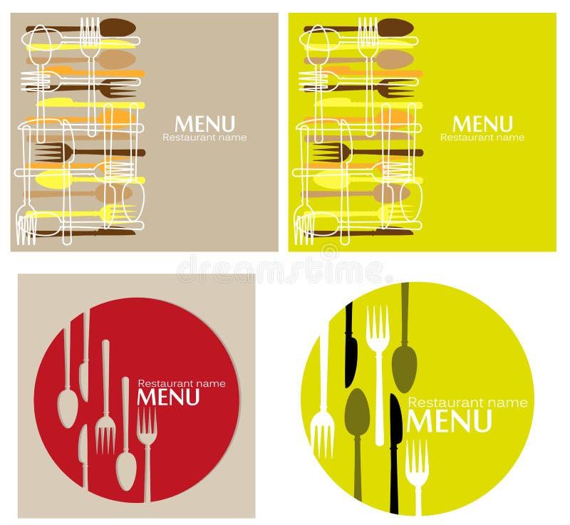 Menu pour le restaurant illustration libre de droits