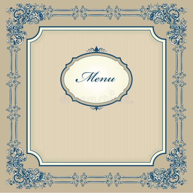 menu projektujący rocznik royalty ilustracja