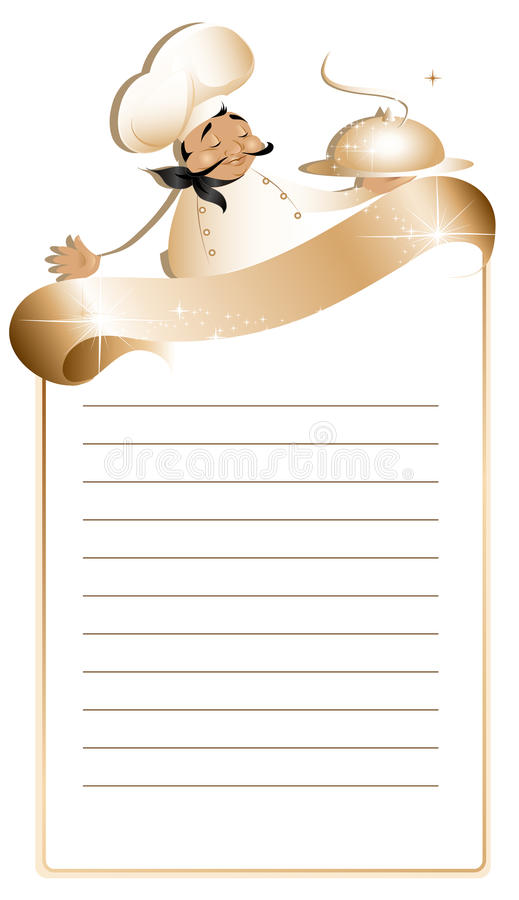 menu przepisu szablon ilustracji