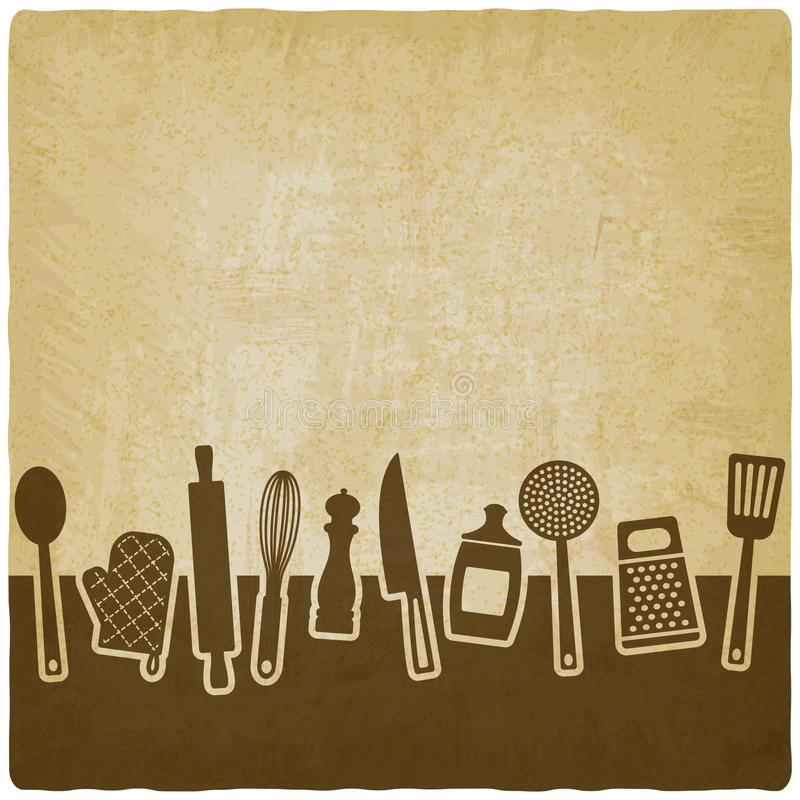 Menu Or Recipe Book Design. Set Of Kitchen Utensils Stock