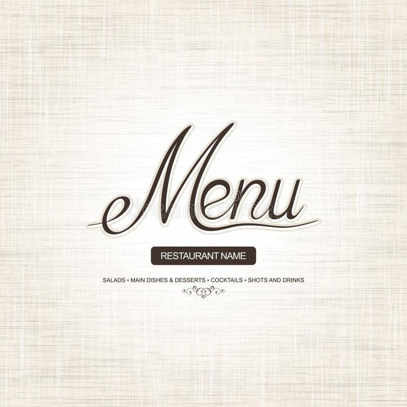 menu restauracja ilustracja wektor