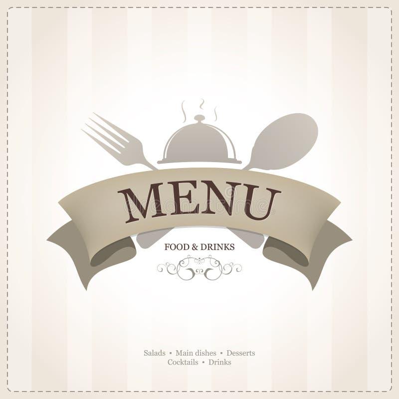 Menu restauracyjny projekt ilustracja wektor