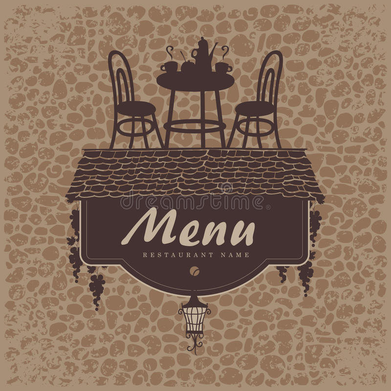 Download Menu with a roof stock vector. Image of sign, restaurant - 31027760
