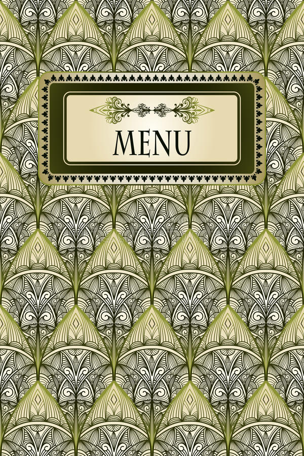 Download Menu And Seamless Vintage Pattern Stock Photo - Image: 22246730