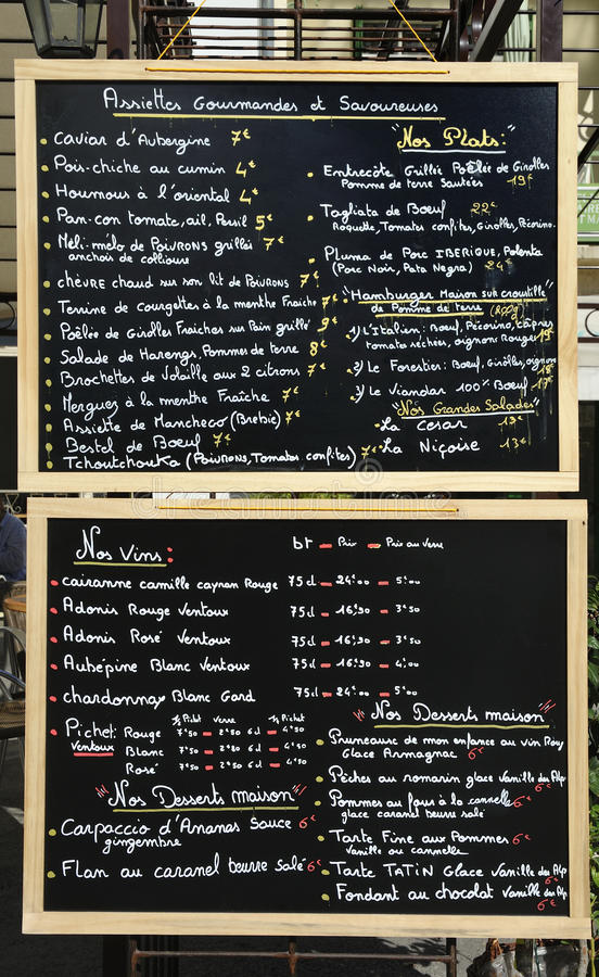 Download Menu sign stock image. Image of dinner, showing, door - 27342289