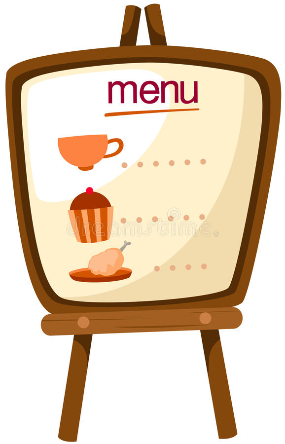 Menu stand stock illustration