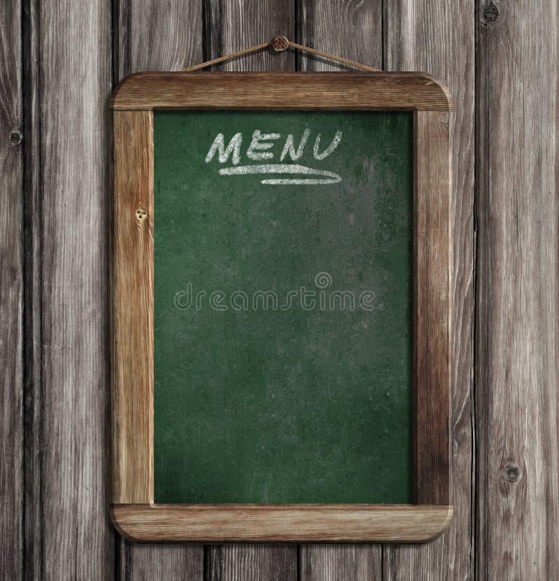 Menu starzejący się zielony blackboard zdjęcia stock
