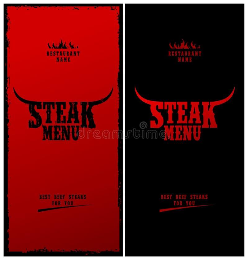 menu stek royalty ilustracja