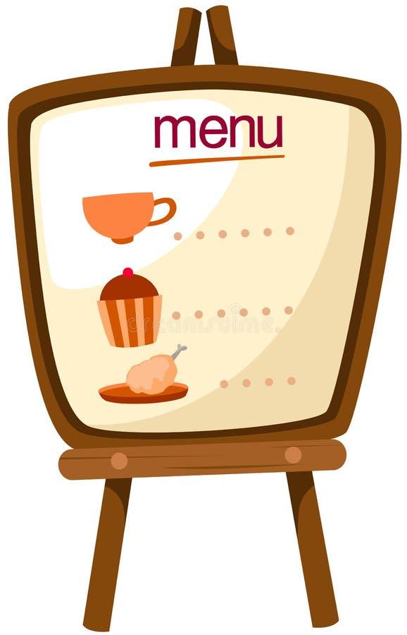 menu stojak ilustracji