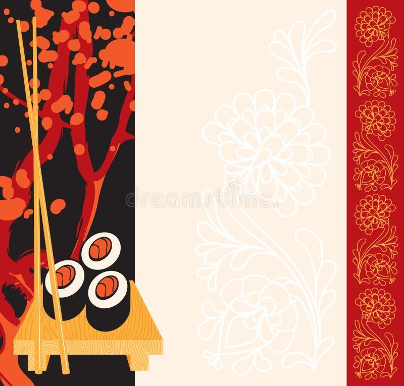 Menu for sushi royalty free illustration
