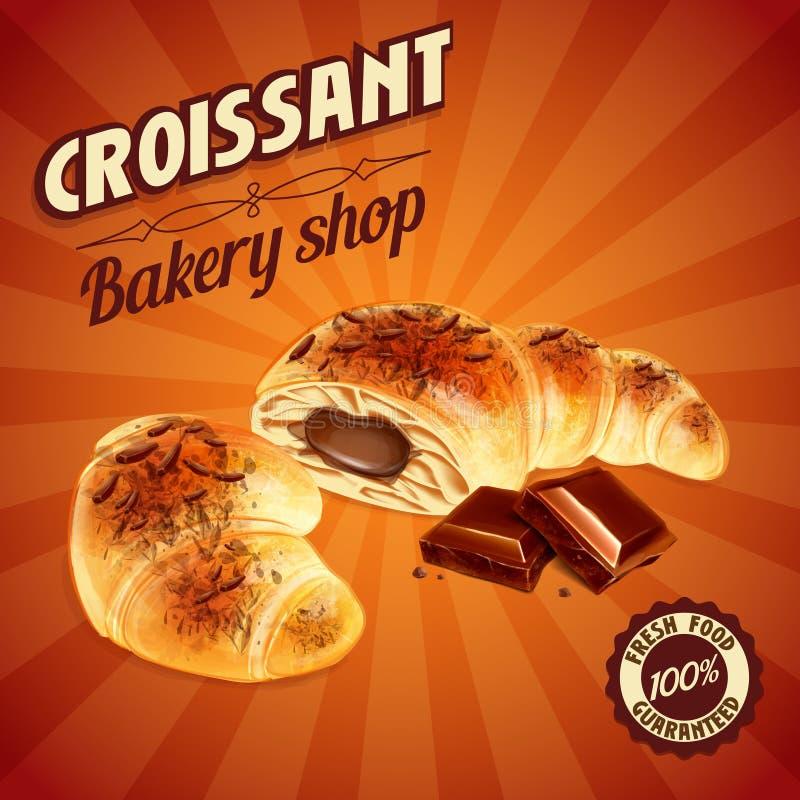 Menu sweet CROISSANT. Menu for cafe and bar vector illustration