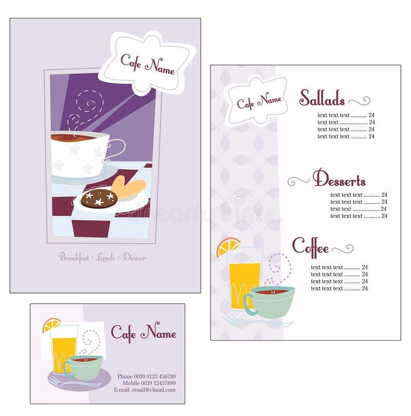menu szablon royalty ilustracja