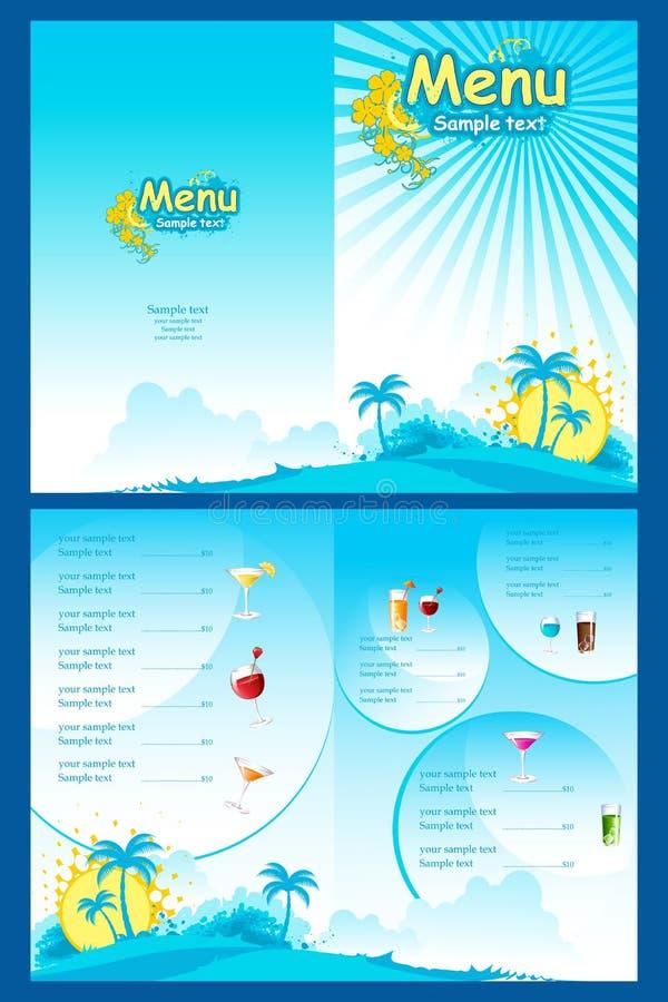 menu szablon ilustracji