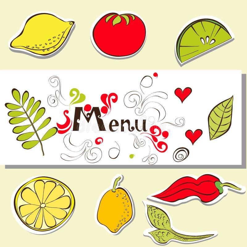 menu szablon ilustracja wektor
