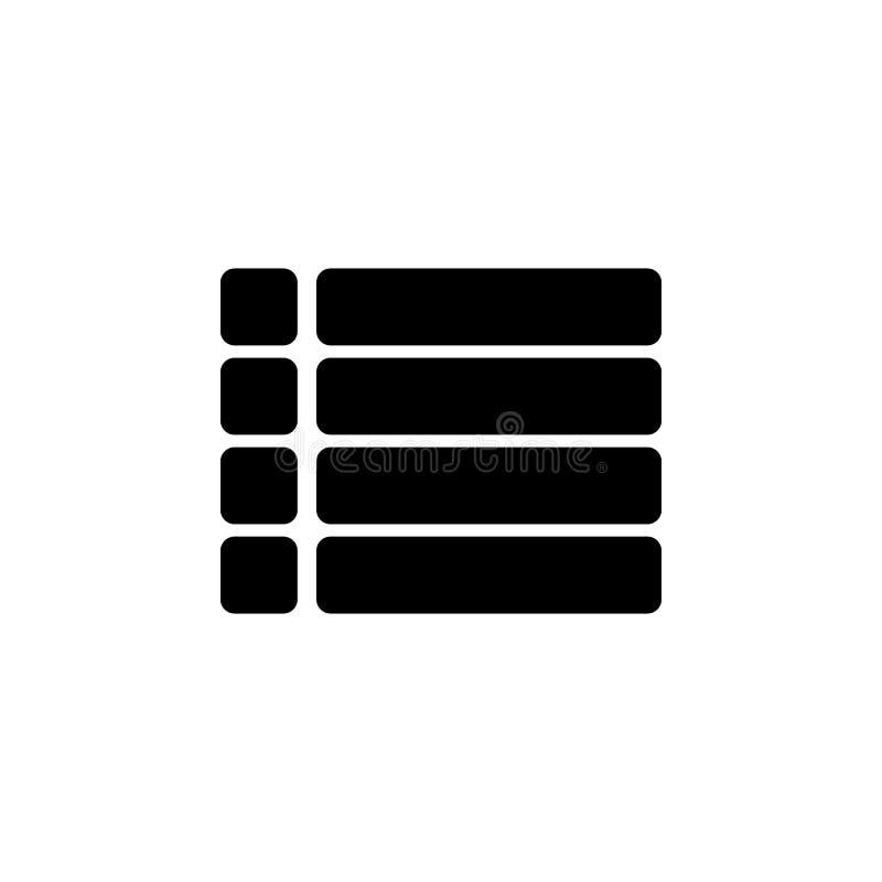 menu szyldowa ikona Element minimalistic ikona dla mobilnych pojęcia i sieci apps Znaki i symbol inkasowa ikona dla stron interne ilustracji