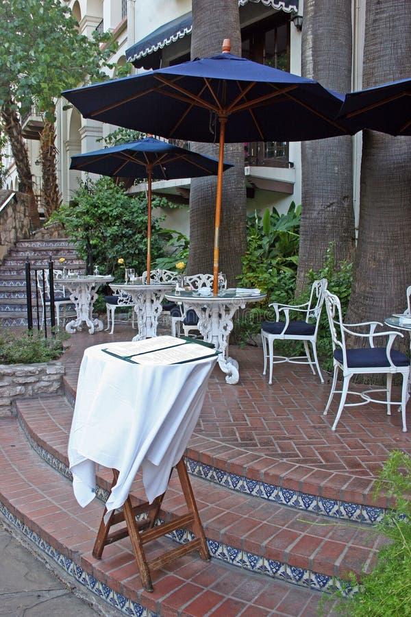 Download Menu table restaurant stock image. Image of stand, umbrella - 136383