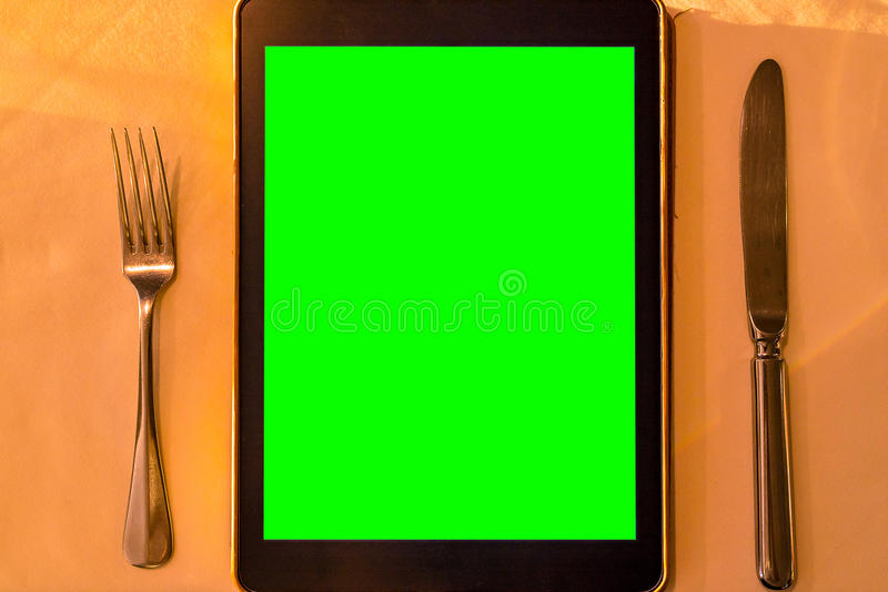 Menu Tablet royalty free stock photography