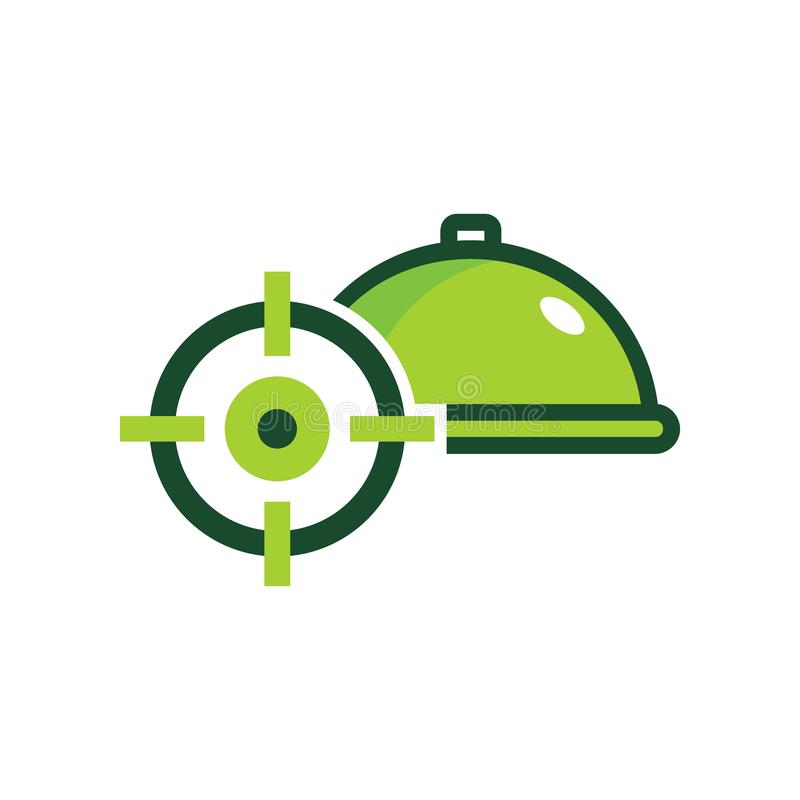 Menu Target Logo Icon Design. This design can be used as a logo, icon or as a complement to a design vector illustration