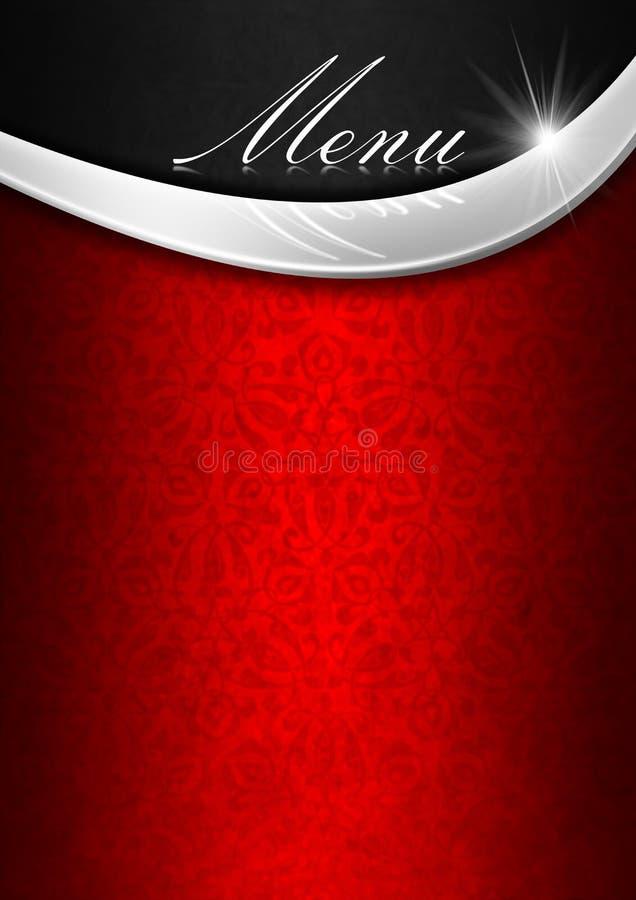 Menu Template - Red Metal and Black vector illustration