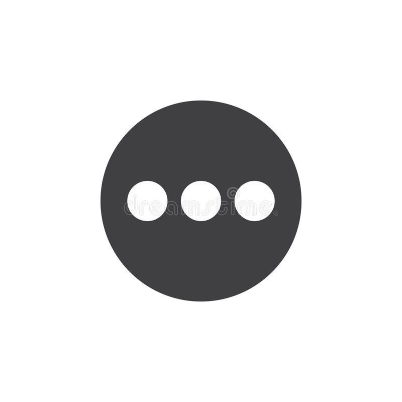 Menu, une icône plus plate Bouton simple rond, signe circulaire de vecteur illustration de vecteur