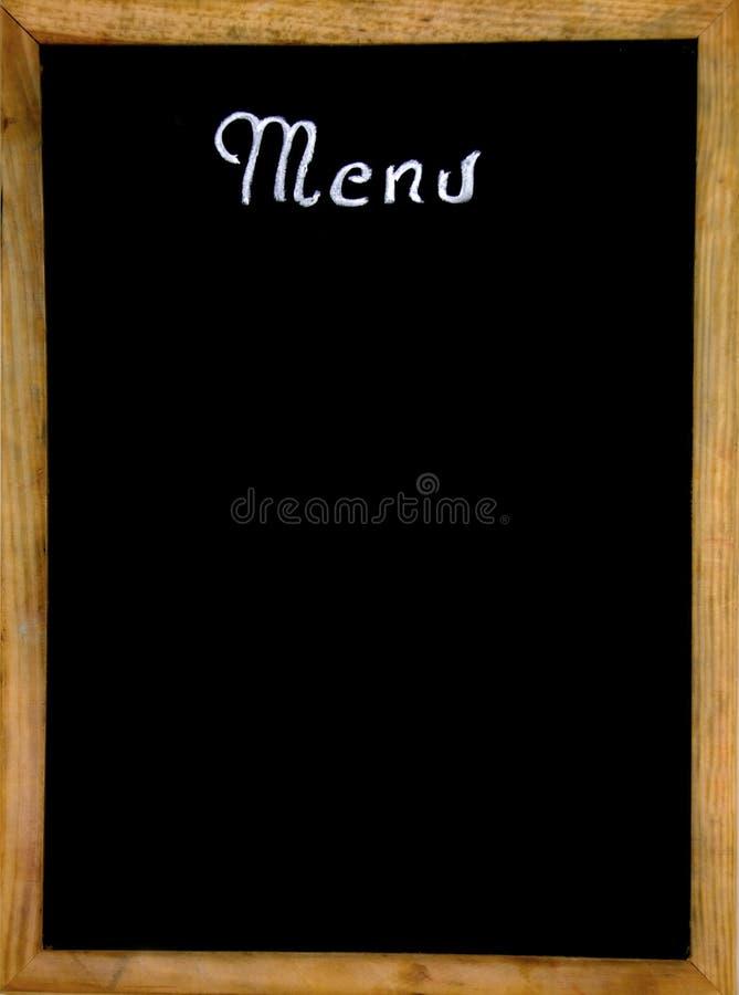 Menu vazio do restaurante fotografia de stock