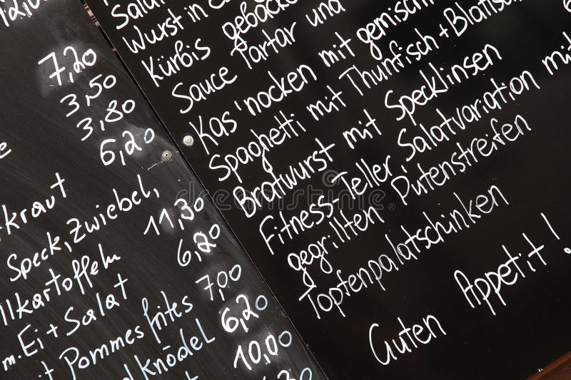 Download Menu in Vienna stock photo. Image of food, info, price - 22062112