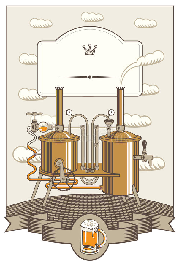 Menu voor een kleine brouwerij vector illustratie