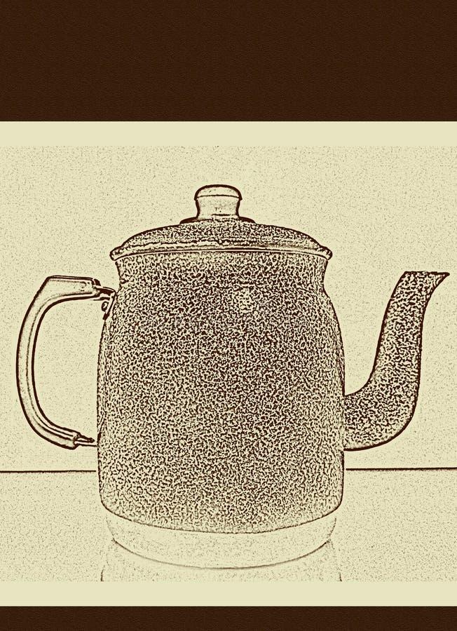 Menu voor koffie, thee en ontbijtdranken royalty-vrije illustratie