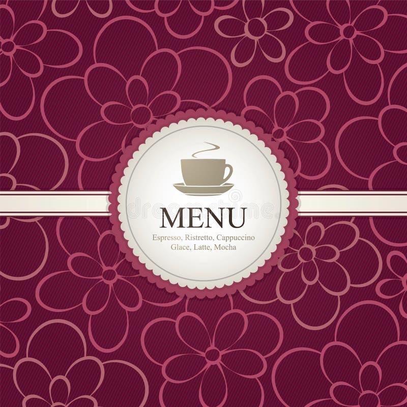 Menu voor restaurant, koffie, staaf, coffeehouse stock illustratie