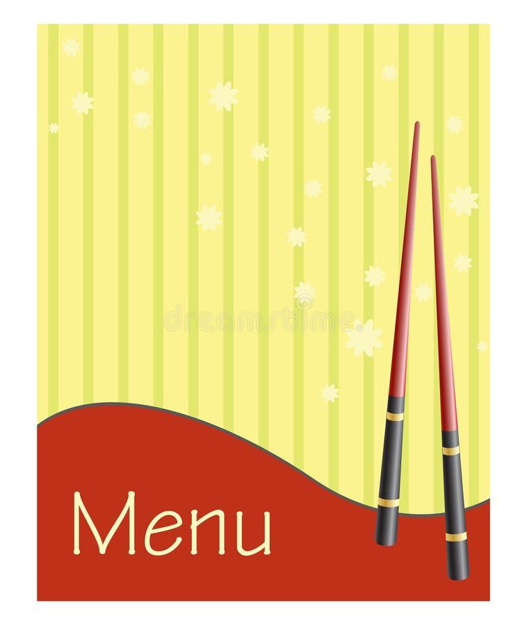 Menu voor sushi en broodjes stock illustratie