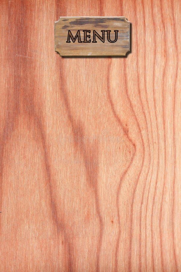 Menu Wood On Wood Wall Stock Photo