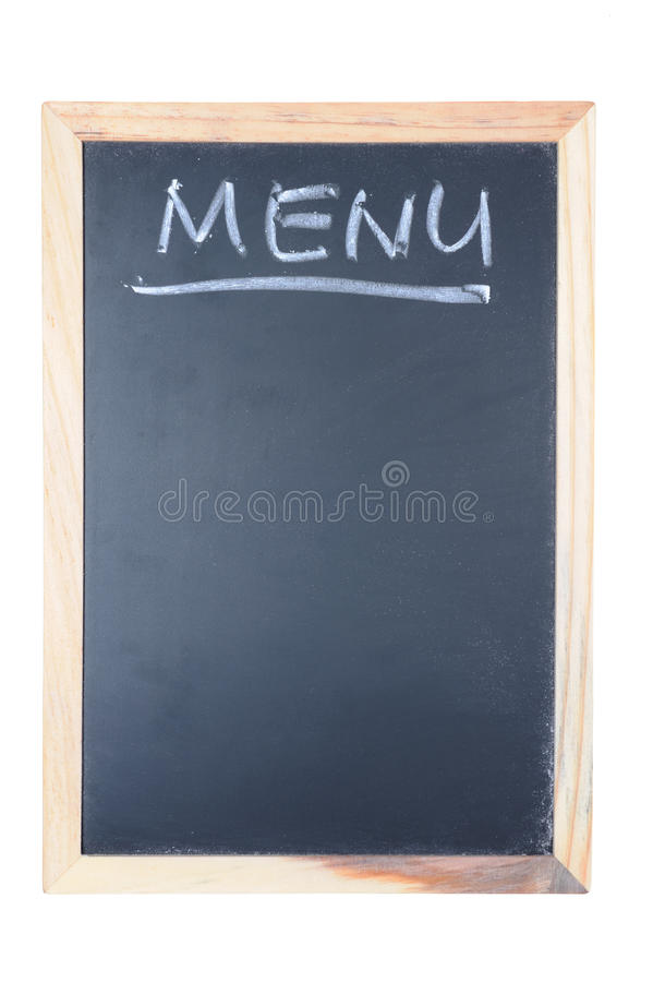 Download Menu Word Written On Chalkboard Stock Image - Image: 25675705