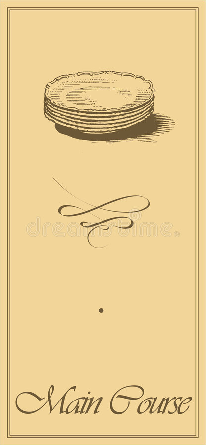 Download Menu1 - Main Course Page stock vector. Image of buffet - 8156819