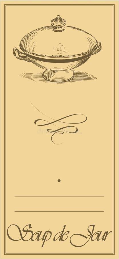 Menu1 - Soup de Jour Page vector illustration
