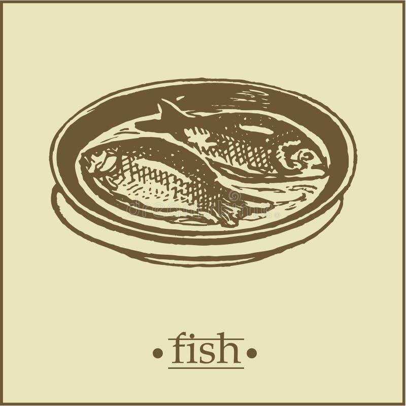 Menu2 - Fish Page. A set of menu pages stock illustration
