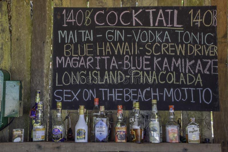 Menucocktail royalty-vrije stock foto