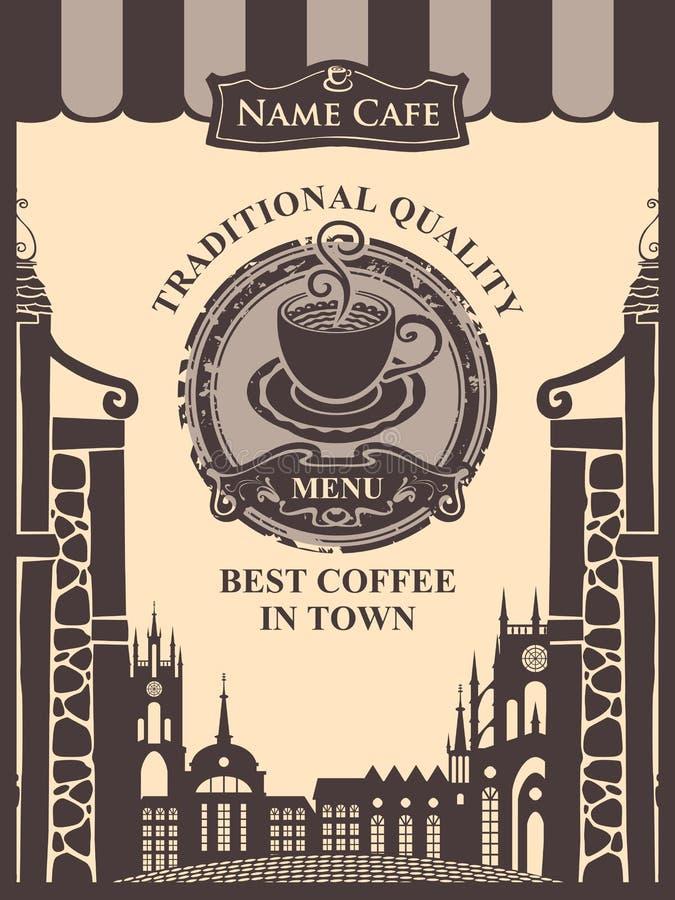 Meny för ett kafé royaltyfri illustrationer